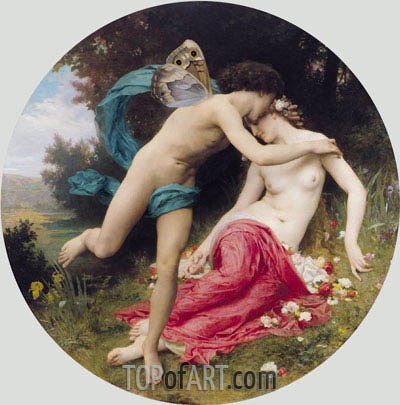 Flora and Zephyr, 1875 | Bouguereau | Painting Reproduction