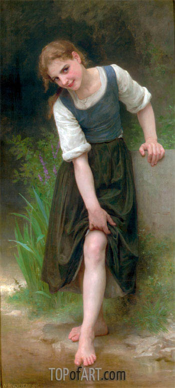 The Ford, 1895 | Bouguereau| Painting Reproduction