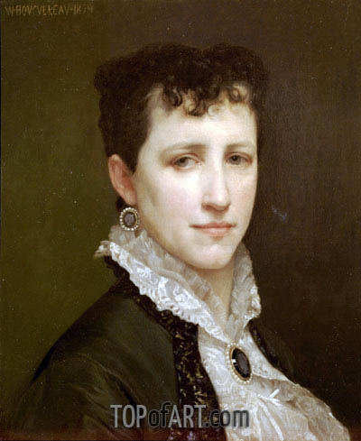 Portrait of Miss Elizabeth Gardner, 1879 | Bouguereau| Painting Reproduction
