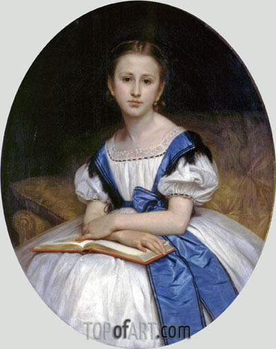 Portrait of Miss Brissac, 1863 | Bouguereau | Painting Reproduction