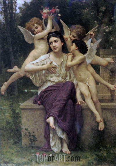 A Dream of Spring, 1901 | Bouguereau| Painting Reproduction