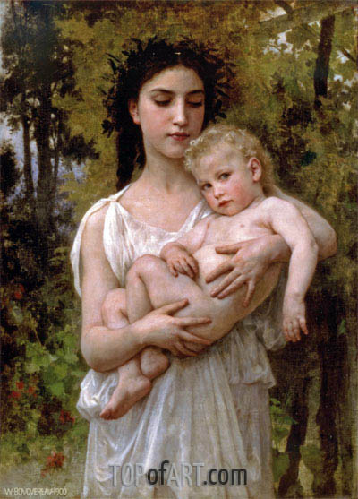 Little Brother, 1900 | Bouguereau| Painting Reproduction