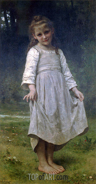 The Curtsey, 1898 | Bouguereau | Painting Reproduction