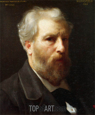 Self Portrait Presented to M. Sage, 1886 | Bouguereau| Painting Reproduction