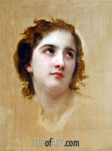 Sketch of a Young Woman, Undated | Bouguereau | Painting Reproduction