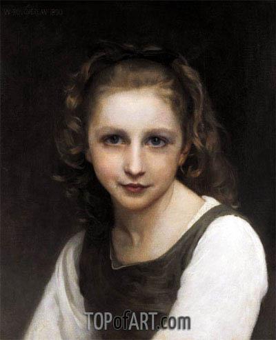 Bouguereau | Portrait of a Young Girl, 1890