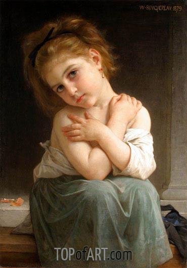 Bouguereau | Chilly Girl (La frileuse), 1879