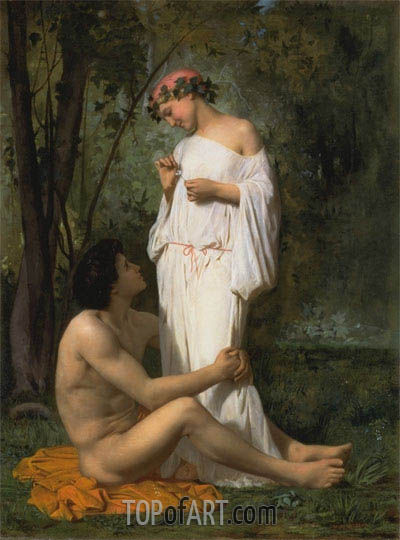 Idylle, 1851 | Bouguereau | Painting Reproduction