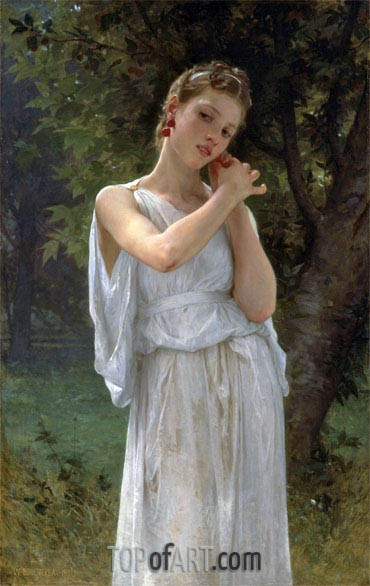 The Earrings (Boucles D'Oreilles), 1891 | Bouguereau| Painting Reproduction