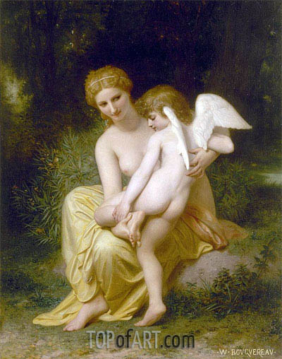 Wounded Eros, 1857 | Bouguereau | Painting Reproduction