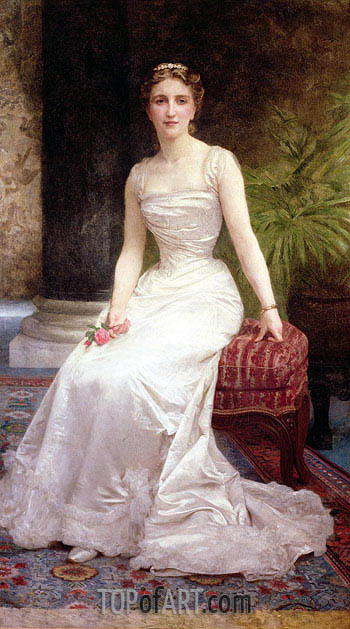 Portrait of Madame Olry-Roederer, 1900 | Bouguereau| Painting Reproduction