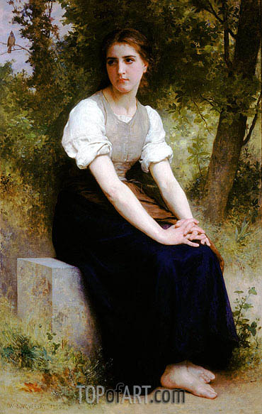 The Song of the Nightingale, 1895 | Bouguereau| Painting Reproduction