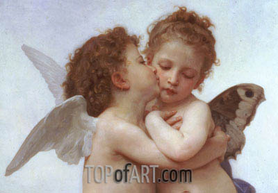 Cupid and Psyche as Children (Detail), 1889 | Bouguereau | Painting Reproduction