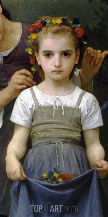 Bouguereau | The Jewel of the Fields (Detail), 1884