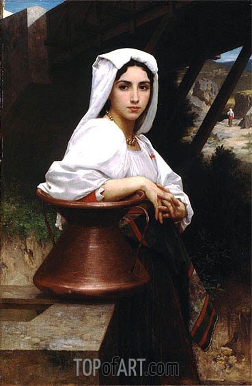 Italian Girl Drawing Water, 1871 | Bouguereau| Painting Reproduction