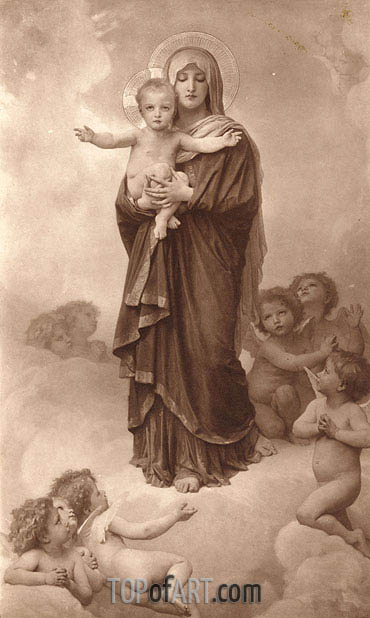 Our Lady of the Angels, 1889 | Bouguereau| Painting Reproduction