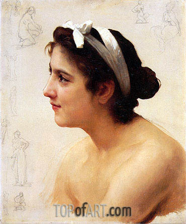 Study of a Woman for Offering to Love,  | Bouguereau| Painting Reproduction