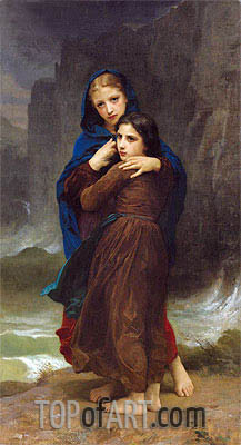 The Storm,  | Bouguereau| Painting Reproduction