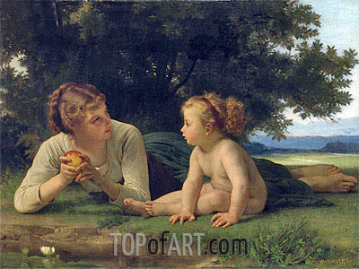 Temptation,  | Bouguereau| Painting Reproduction