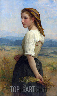 Glaneuse, 1894 | Bouguereau| Painting Reproduction