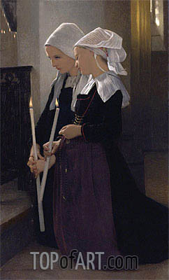 Le Voeu a Sainte-Anne-D'auray, 1869 | Bouguereau| Painting Reproduction