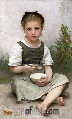Morning Breakfast, 1887 | Bouguereau| Painting Reproduction