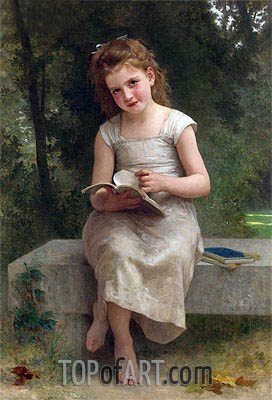 The Reading, 1895 | Bouguereau | Painting Reproduction