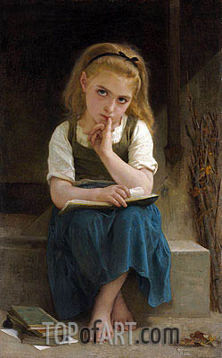 Difficult Lesson, 1880 | Bouguereau | Painting Reproduction