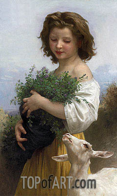 Little Esmeralda, 1874 | Bouguereau| Painting Reproduction