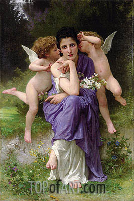 Songs of Spring, 1889 | Bouguereau | Gemälde Reproduktion