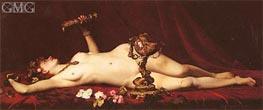 Bacchante Enivree (A Drunk Bacchante), 1882 by Lesrel | Painting Reproduction