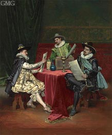 The Collectors, 1896 von Lesrel | Gemälde-Reproduktion