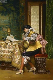 The Lute Player, 1880 von Lesrel | Gemälde-Reproduktion