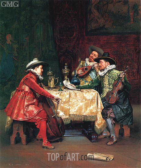 The Rehearsal, 1897 | Lesrel | Painting Reproduction