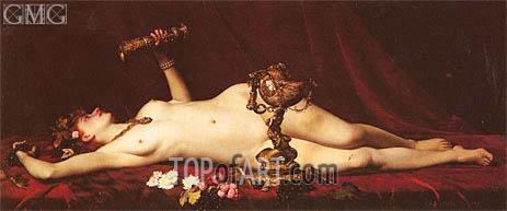 Bacchante Enivree (A Drunk Bacchante), 1882 | Lesrel | Painting Reproduction