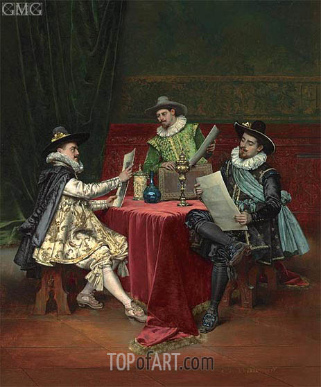 The Collectors, 1896 | Lesrel | Painting Reproduction