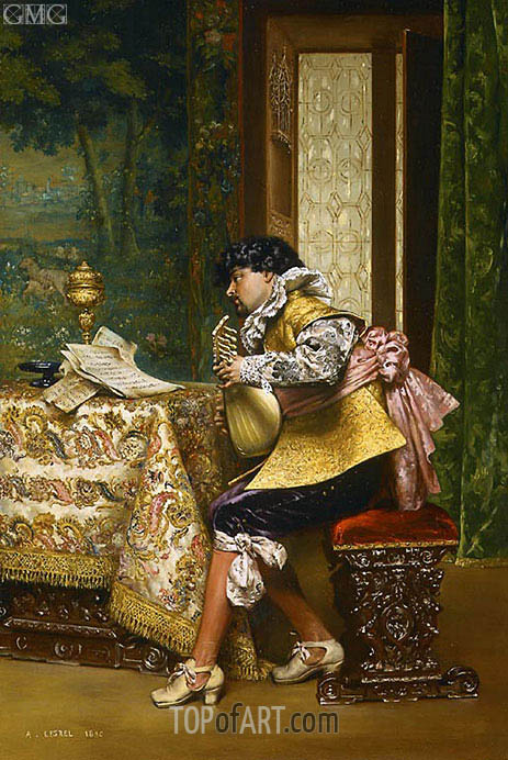 Lesrel | The Lute Player, 1880