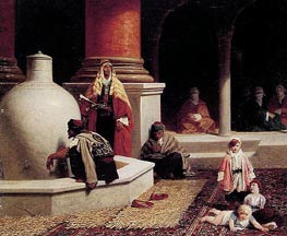 In the Harem, 1873 by Adolphe Yvon | Painting Reproduction