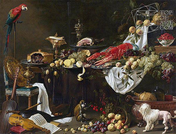 Banquet Still Life, 1644 | van Utrecht | Painting Reproduction