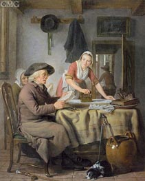 Livingroom Scene, c.1794/95 von Adriaen de Lelie | Gemälde-Reproduktion