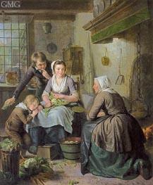 Kitchen Scene, c.1794/95 von Adriaen de Lelie | Gemälde-Reproduktion