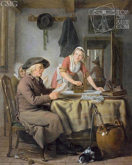 Livingroom Scene, c.1794/95 | Adriaen de Lelie | Painting Reproduction