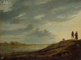 Sunset over the River | Aelbert Cuyp | Painting Reproduction