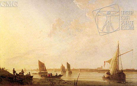 Dordrecht: Sunrise, c.1650 | Aelbert Cuyp | Painting Reproduction