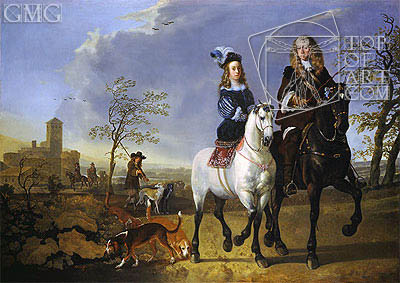 Lady and Gentleman on Horseback, c.1655 | Aelbert Cuyp | Painting Reproduction