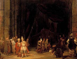 The Forecourt of the Temple, 1679 by Aert de Gelder | Painting Reproduction