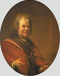Portrait of Herman Boerhaave, 1722 von Aert de Gelder | Gemälde-Reproduktion
