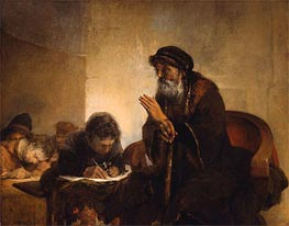Schoolmaster with his Pupils, undated by Aert de Gelder | Painting Reproduction