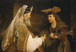 Ahimelech Giving the Sword of Goliath to David, c.1680 by Aert de Gelder | Painting Reproduction