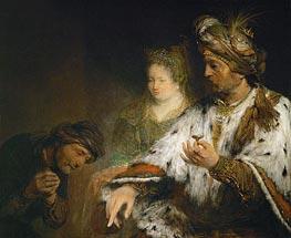 Mordechai is Honored by King Ahasuerus of Persia, c.1683 von Aert de Gelder | Gemälde-Reproduktion